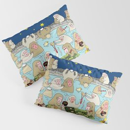 Snow Monkeys in Hot Spa Pillow Sham