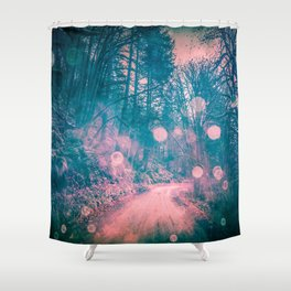 Pink Magical Path Shower Curtain