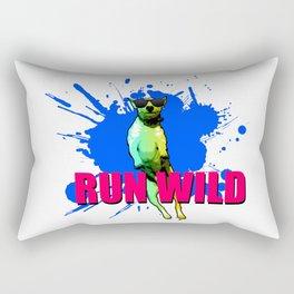 Cool Dog Run Wild Rectangular Pillow