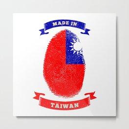 MADE IN  FINGERPRINT TAIWAN Birthday Metal Print