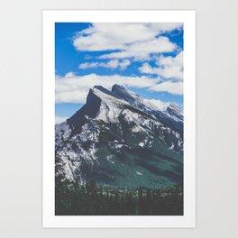 Mt. Rundle in Banff Art Print