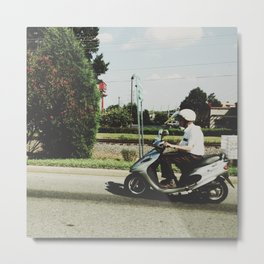 Scooting Along Metal Print