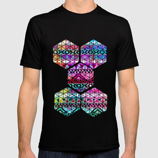 Neon Aztec | Purple Pink Neon Bright Andes Abstract Pattern T-shirt
