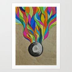 Colour Sketch  Art Print