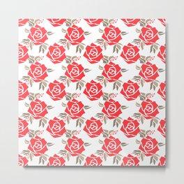 Coral roses Metal Print