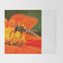 Native Pollinators 1 Throw Blanket