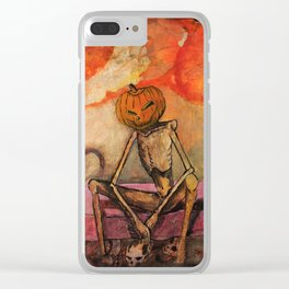 Halloween Head: Monsters Clear iPhone Case