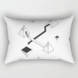 Space Pyramids Rectangular Pillow