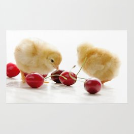 Sweet Chick and red Cherry Rug