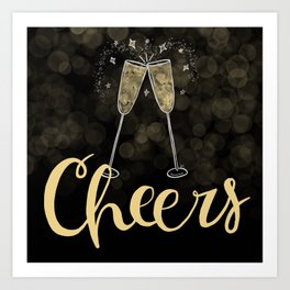Cheers To The New Year Art Print