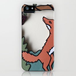 The Fox & The Grapes iPhone Case