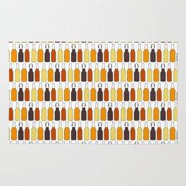 Vintage Beer Bottles Rug