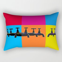Industrial inspiration for a colorful tap design Rectangular Pillow