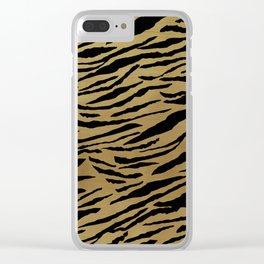 Tiger Animal Print Glam #1 #pattern #decor #art #society6 Clear iPhone Case