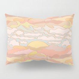 Mojave Desert Landscape in Pastel Sunset Pillow Sham
