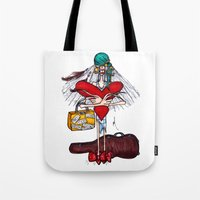 gypsy Tote Bags featuring Gypsy by Natalie Easton