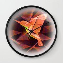 Hummingbird Origami Print Wall Clock