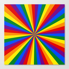 Eternal Rainbow Infinity Pride Canvas Print