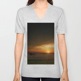 Texas Sunset Unisex V-Neck
