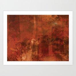 Organic rust Art Print