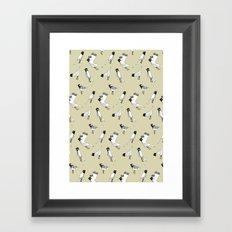 Bird Print - Natural Framed Art Print