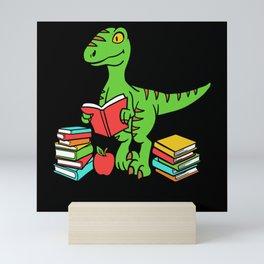 Velocireader Dinosaurs School School Books Motif Mini Art Print
