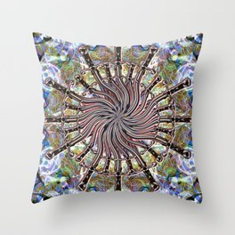 Swords Twisting In The Wind Throw Pillow