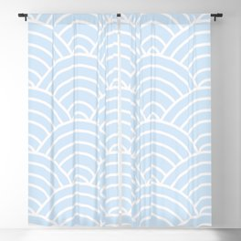 Light Blue Wave Pattern Blackout Curtain