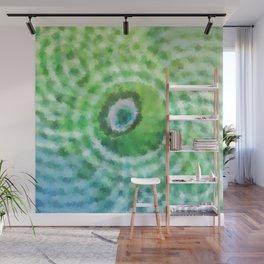 Green sphere Wall Mural