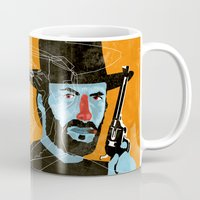 clint eastwood Mugs featuring Clint Eastwood by Eduardo Guima