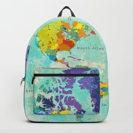 World Map - 8 Backpack