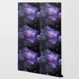 Galaxy Stars Violet Blue Wallpaper