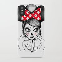 minnie mouse iPhone & iPod Cases featuring Minnie by theavengerbutterfly