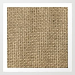 Natural Woven Beige Burlap Sack Cloth Art Print