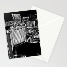 Vegas - Monte Carlo - Black White Stationery Cards