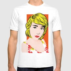 popart  Mens Fitted Tee MEDIUM White