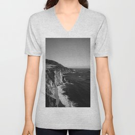 Monochrome Big Sur Unisex V-Neck