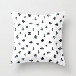black and white Scandinavian Nursery Prints patterns Throw Pillow