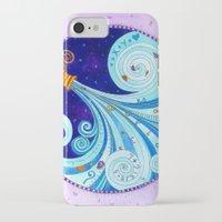 aquarius iPhone & iPod Cases featuring Aquarius by Sandra Nascimento