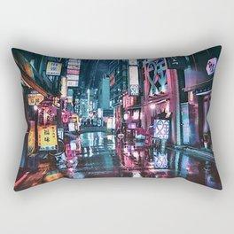Tokyo at Night Shimbashi Rectangular Pillow