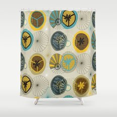 Pies in Mod style Shower Curtain
