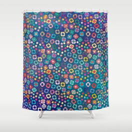 dp065-2 floral pattern Shower Curtain