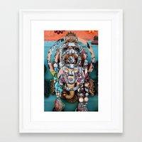 ganesh Framed Art Prints featuring Ganesh by Ira Carter