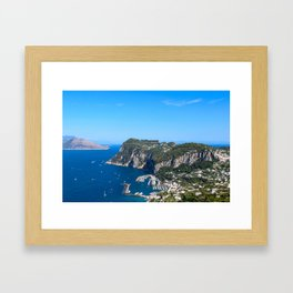 Blue Skies in Capri, Italy Framed Art Print