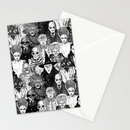 Horror Film Monsters Stationery Cards