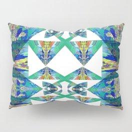 Diamond Geometric Intricate Beauty Green & Blue Pillow Sham