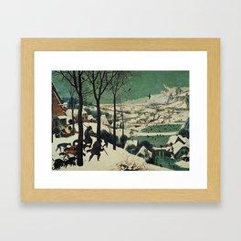HUNTERS IN THE SNOW - BRUEGEL Framed Art Print