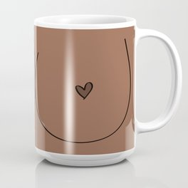 Boobs - Medium Brown Coffee Mug