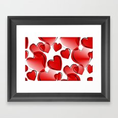 With All My Love Framed Art Print