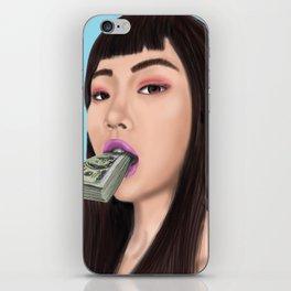 She speaks money iPhone Skin